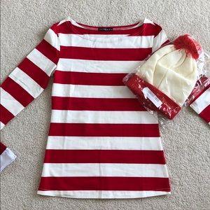 Tops - Where's Waldo set. Comes with beanie.